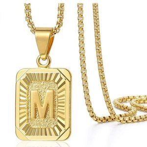 Initial Pendant Gold Necklace